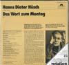 Cover: Hanns-Dieter Hüsch - Hanns-Dieter Hüsch / Das Wort zum Montag