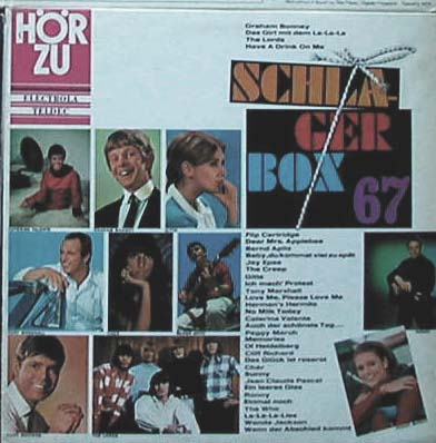 Albumcover Hör Zu Sampler - Schlager Box 67 mit  The Lords, Peggy March, Bernd Apitz, Gitte, Cliff Richard, Flip Cartridge, Jay Epae, The Who, Ronny, Cher, Jean Claude Pascal u.a