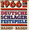 Cover: Verschiedene Interpreten - Verschiedene Interpreten / Deutsche Schlagerfestspiele Baden-Baden 1966