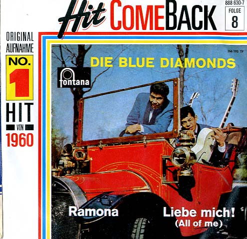 Albumcover Blue Diamonds - Ramona / Liebe mich (All of me)