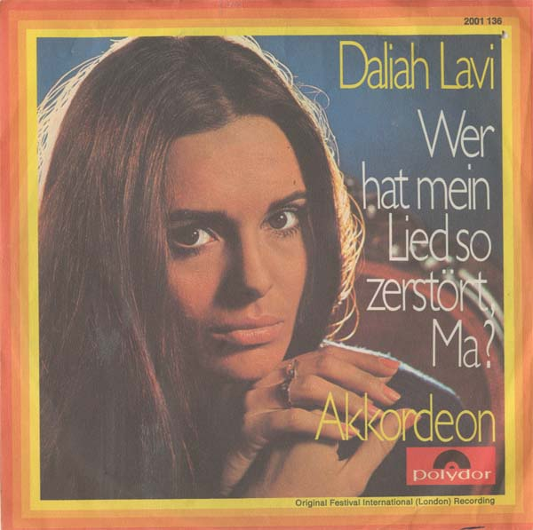 Albumcover Daliah Lavi - Wer hat mein Lied so zerstört Ma (What have They Done To My Song Ma / Akkordeon