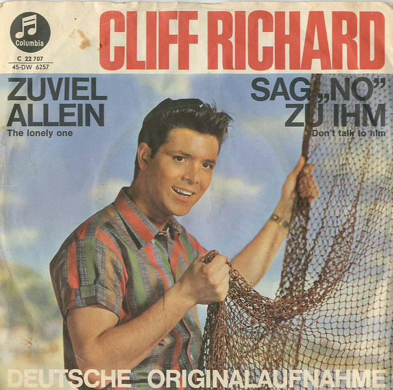 Albumcover Cliff Richard - Sag No zu ihm (Dont Talk To Him) / Zu viel allein (The Lonely One)