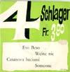 Cover: ex libris Sampler - ex libris Sampler / 4 Schlager Fr. 3,90 (EP)