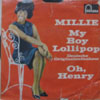 Cover: Millie (Small) - Millie (Small) / My Boy Lollipop (Deutsche Originalaufnahme) / Oh Henry