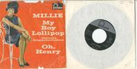 Cover: Millie (Small) - Millie (Small) / My Boy Lollipop (Deutsche Originalaufnahme) / Oh Henry