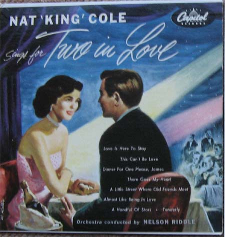 Albumcover Nat King Cole - Sings For two in Love (25 cm)