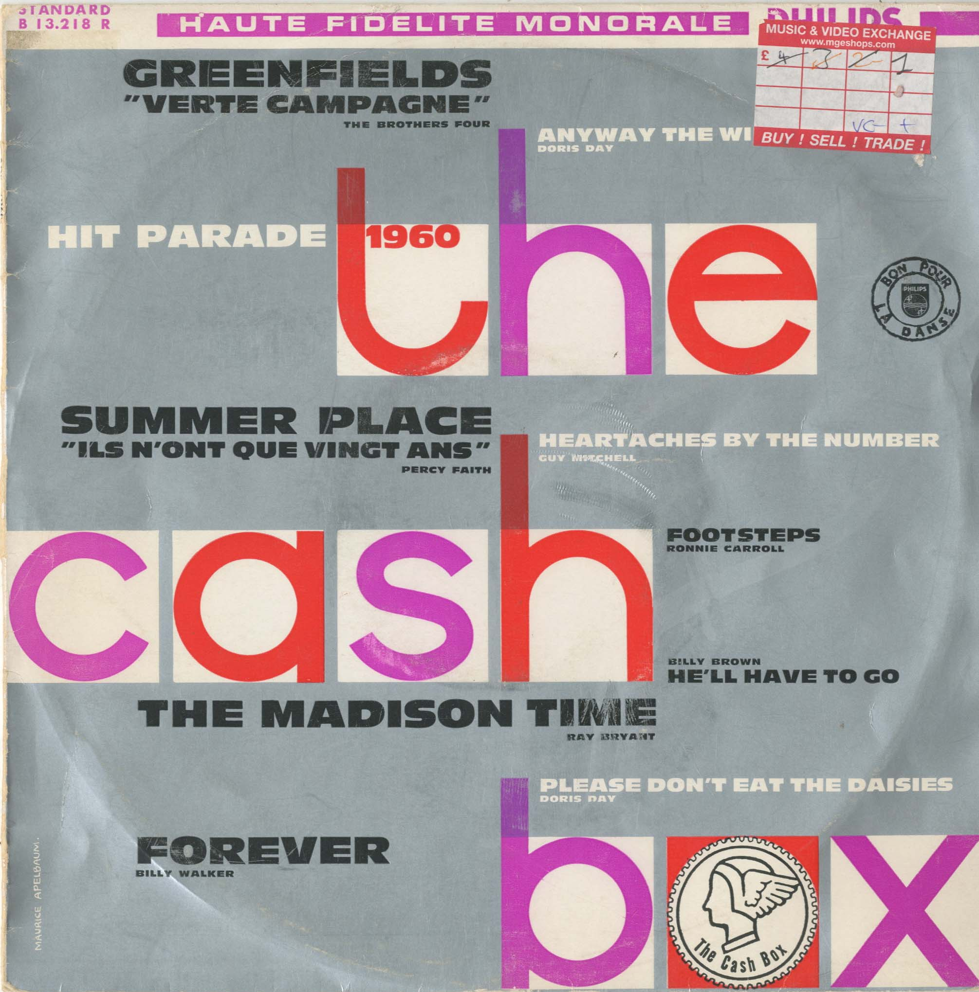 Albumcover Philips Sampler - Hit Parade 1960 -  The Cash Box