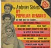 Cover: Andrews Sisters - by Popular Demand