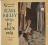 Cover: Pearl Bailey - Sings For Adults Only