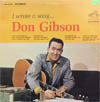 Cover: Don Gibson - Don Gibson / I Wrote A Song