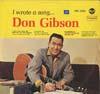 Cover: Don Gibson - Don Gibson / I Wrote A Song