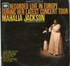 Cover: Mahalia Jackson - Recored Live in Europe During Her Latest Concert Tour