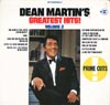 Cover: Dean Martin - Dean Martin / Dean Martin´s Greatest Hits Volume 2