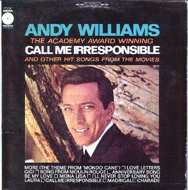 Albumcover Andy Williams - Call Me Irresponsible <br>
