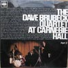 Cover: Dave Brubeck - Dave Brubeck / At Carnegie Hall Part 2 (Feb 22nd, 1963)