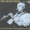 Cover: Nicholas, Albert - New Orleans Parade Vol. 2: High Society, Black and Blue, Bugle Call Blues, Wolverine Blues, avec Claude Bolling (p), Kansas Fields (drums)