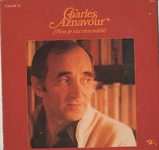 Albumcover Charles Aznavour - No je n´ai rien oublie