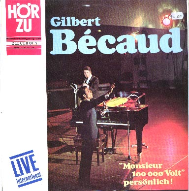 Albumcover Gilbert Becaud - Monsieur 100.000 Volt persönlich - Live international