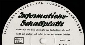 Logo des Labels TELDEC Infpormations-Schallplatte
