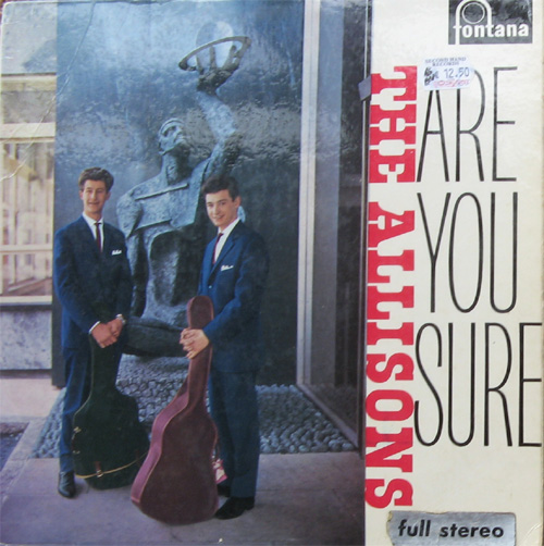 Albumcover The Allisons - Are You Sure
