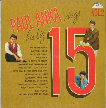 Albumcover Paul Anka - Sings His BIG 15 Vol. 2