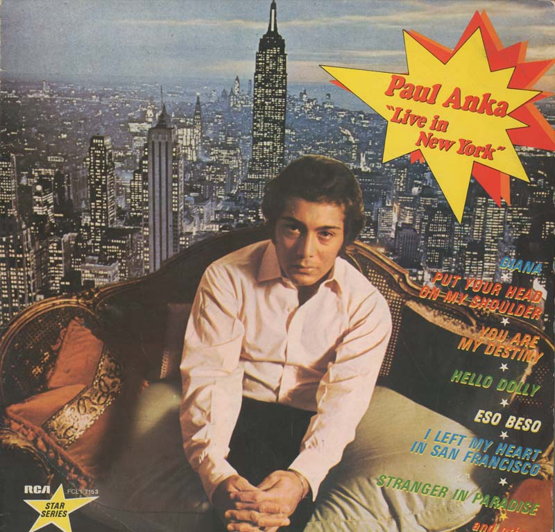 Albumcover Paul Anka - Live in New York