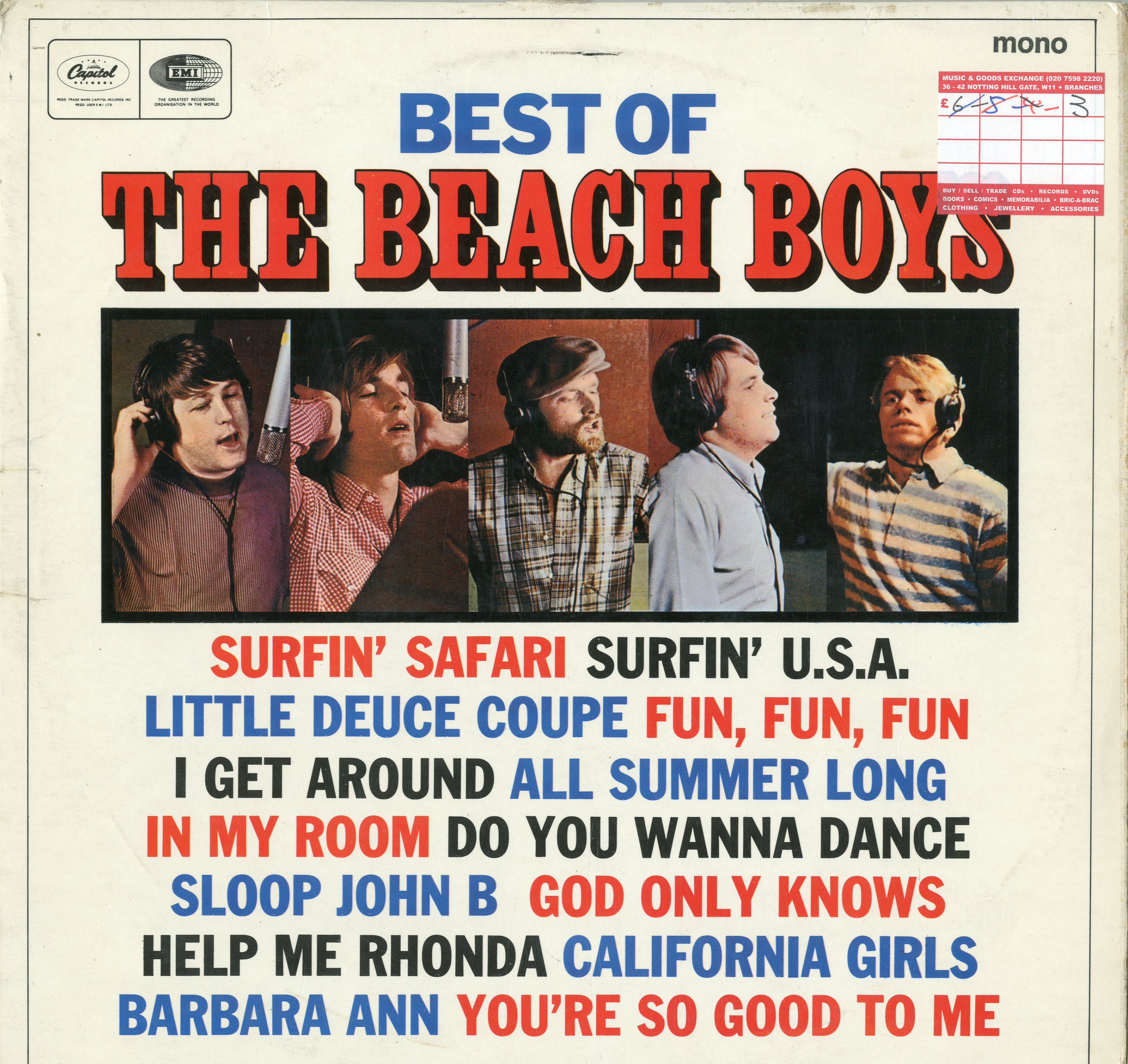 Albumcover The Beach Boys - Best Of The Beach Boys