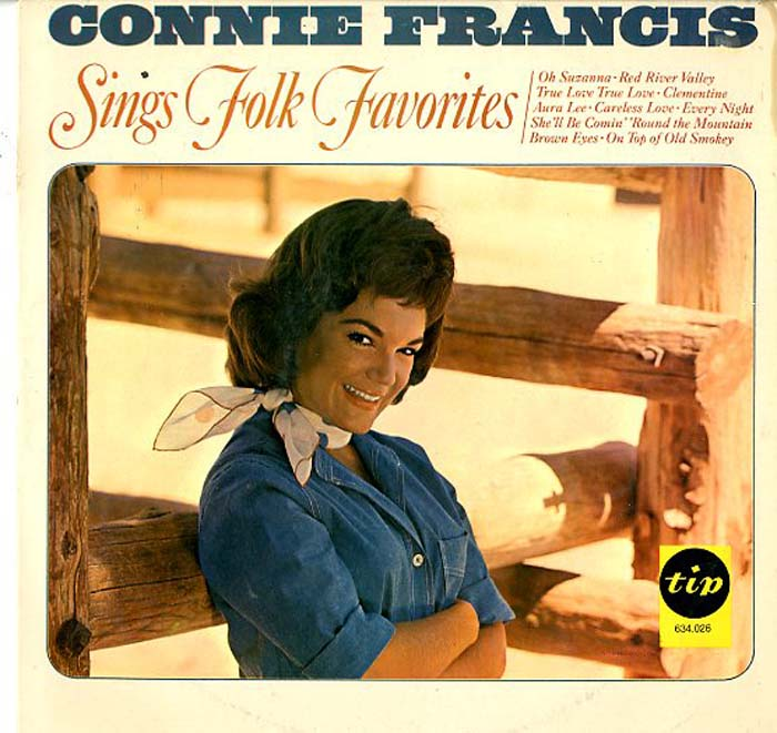 Albumcover Connie Francis - Sings Folk  Favorites (Tip RI)
