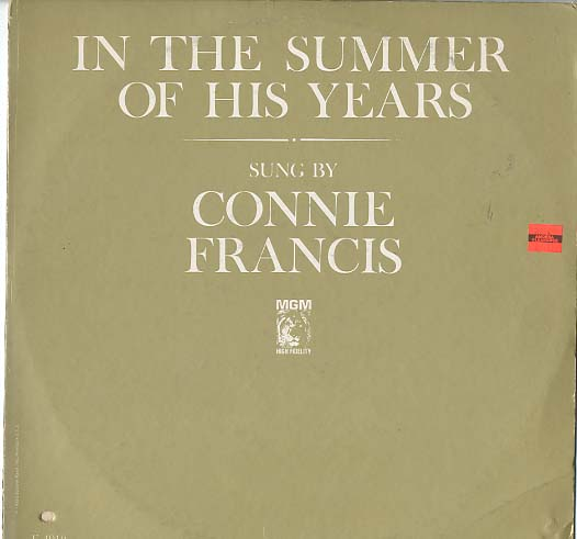 Albumcover Connie Francis - In The Summer Of His Years