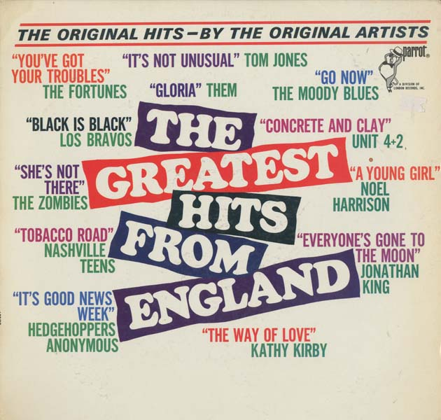 Albumcover Various GB-Artists - The Greatest Hits From England