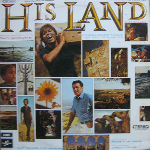 Albumcover Cliff Richard - His Land - Cliff Richard & Cliff Barrows with The Ralph Carmichael Orchestra and Chorus - A Musical Journey Through The Soul Of a Nation