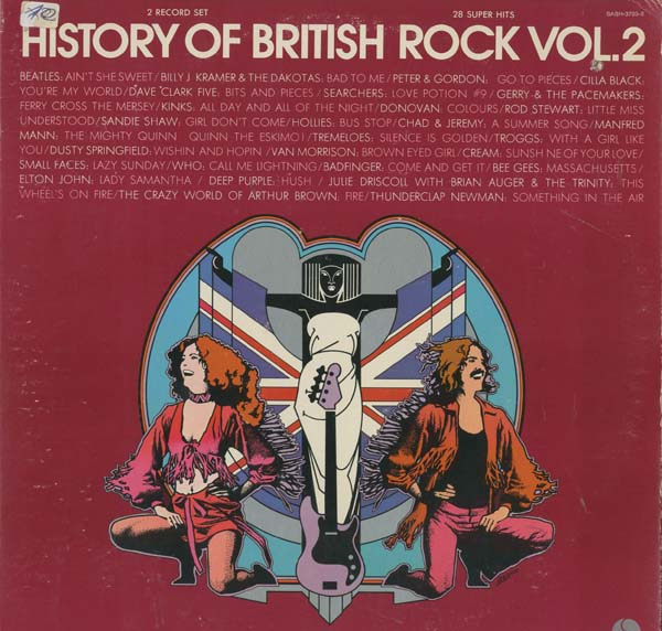 Albumcover Various GB-Artists - History of British Rock Vol 2 - 28 Super Hits (DLP)
