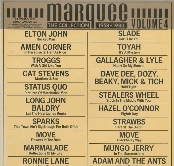 Albumcover Various GB-Artists - Marquee - The Collection 1958 - 1983, Vol. 4