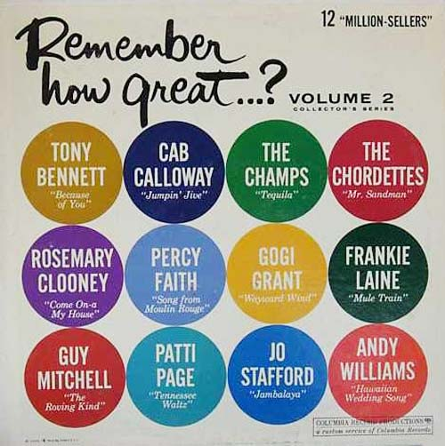 Albumcover Electrola-/Columbia- Sampler - Remember How Great .... 12 Million Sellers, Vol. 2