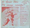 Cover: I´ll Always Remember - 20 Great Hits Vol. 2