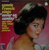 Cover: Connie Francis - Sings Never On  Sunday  - And Other Title Songs From Motion Pictures