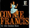 Cover: Connie Francis - Connie Francis / To The Italian Fans