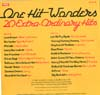 Cover: Various Artists of the 60s - One Hit Wonders - 20 Extra-ordinary Hits