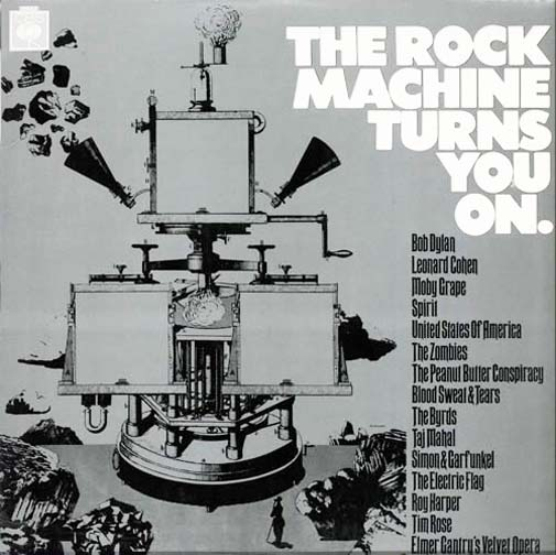 Albumcover CBS Sampler - The Rock Machine Turns You On