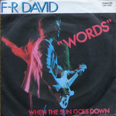 Albumcover F. R. David - Words / When The Sun Goes Down