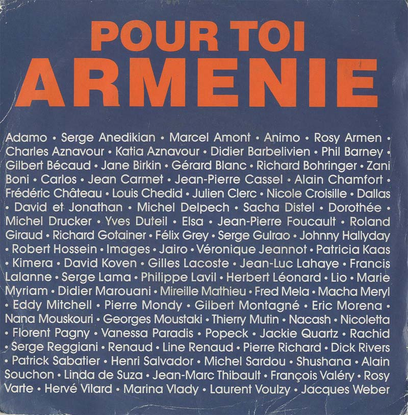 Albumcover Various International Artists - Aznavour  Pour Toi Armenie / Ils sont tombes