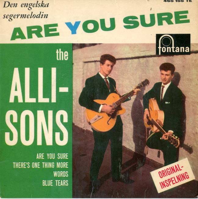 Albumcover The Allisons - Are You Sure / There´s One Thing More / Words / Blue Tears