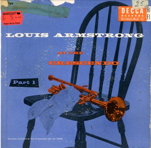 Albumcover Louis Armstrong - At The Crescendo  Part 1 (Doppel-EP)