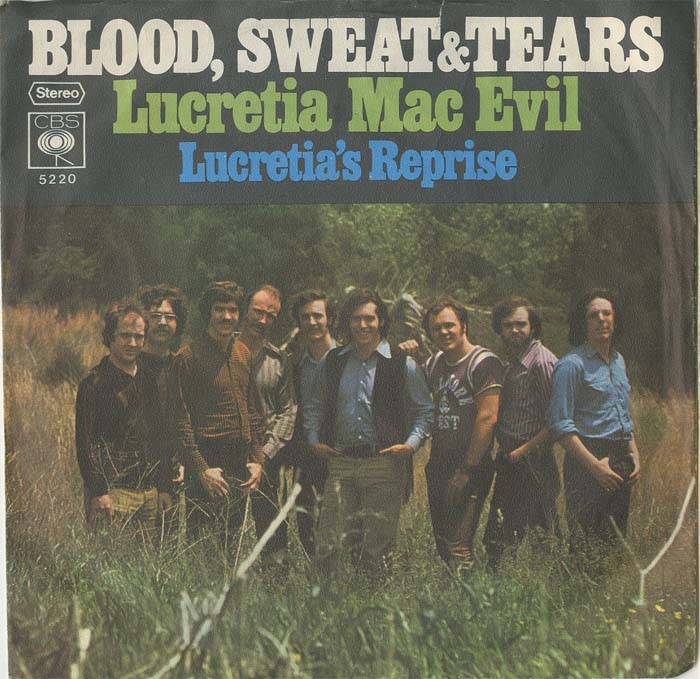 Albumcover Blood Sweat & Tears - Lucretia Mac Evil / Lucretias Reprise