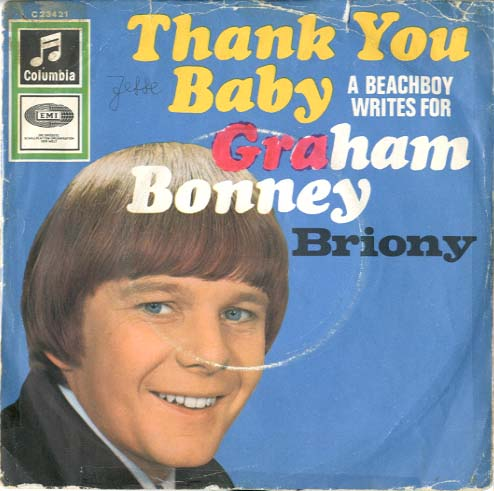 Albumcover Graham Bonney - Thank You Baby / Briony