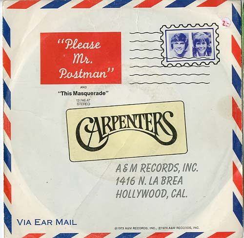 Albumcover The Carpenters - Please Mr. Postman / This Masquerade