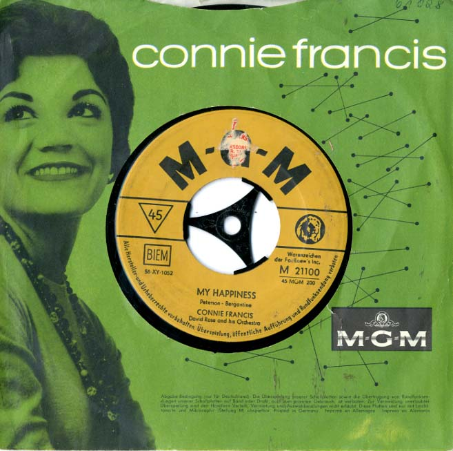Albumcover Connie Francis - My Happiness / You Always Hurt The One You Love
