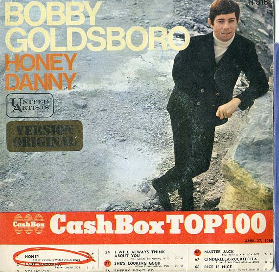 Albumcover Bobby Goldsboro - Honey / Danny