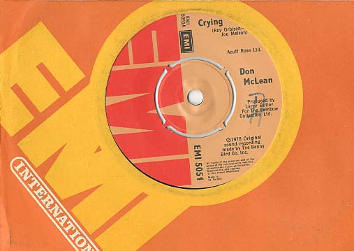 Albumcover Don McLean - Crying / Genesis (In the Beginning)