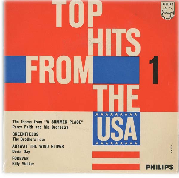 Albumcover Philips Sampler - Top Hits From The USA (EP)